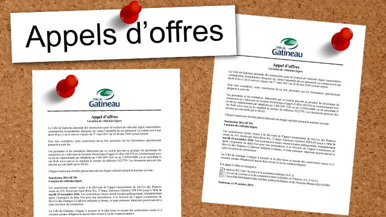 Appels d'offres Gatineau