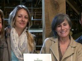 Sandra Gravel , Geneviève Rollin, Nancie Martineau et Jasmin Morin, administrateurs à la Coopérative de solidarité d'hébergement de Gatineau, qui a remporté le prix émergence de la Fondation pour le développement des coopératives de l'Outaouais. CRÉDIT PHOTO : CDROL