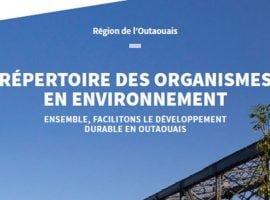 Lancement du Répertoire des organismes en environnement