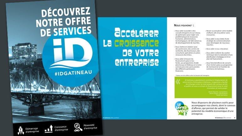 Une brochure pour promouvoir les services d'ID Gatineau